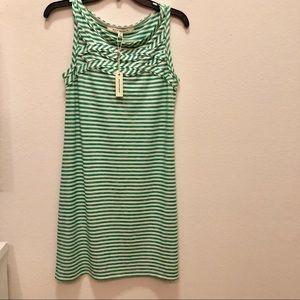 Max Studio green &white summer dress NEW pd$98 NWT